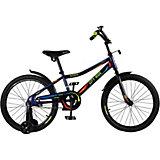 Детский велосипед City-Ride Spark , рама сталь , диск 20 сталь , цвет Синий