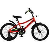 Детский велосипед City-Ride Spark , рама сталь , диск 18 сталь , цвет Красный