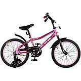 Детский велосипед City-Ride Spark , рама сталь , диск 18 сталь , цвет Розовый