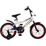 Детский велосипед City-Ride Spark , рама сталь , диск 16 сталь , цвет Белый