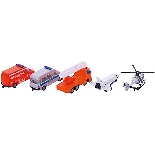 SIKU 6282 Набор Вертолет, самолет, 2-х микроавт.и кран от SIKU