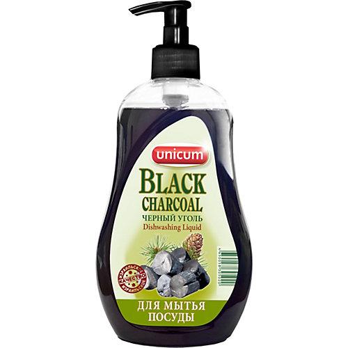 Средство для мытья посуды Unicum Чёрный уголь, 550 мл