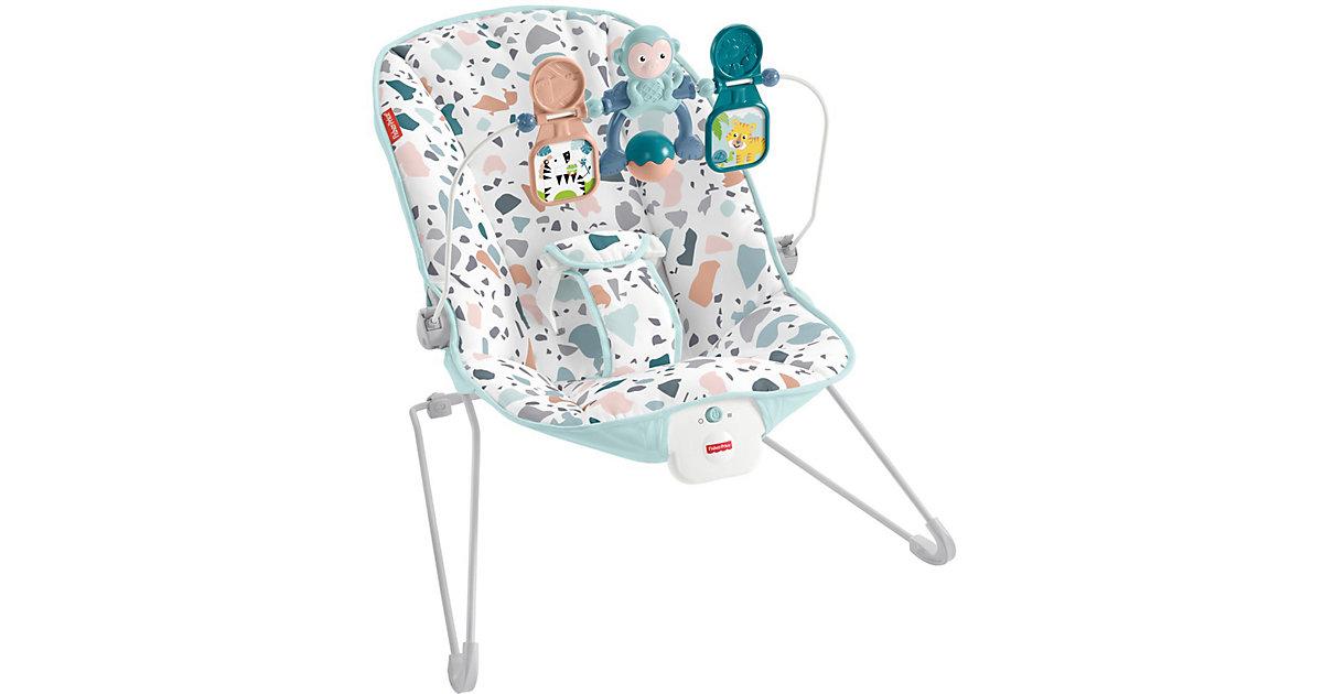 Fisher-Price Basis Babywippe mit Vibration und Spielbügel, moderne Baby-Ausstattung mehrfarbig