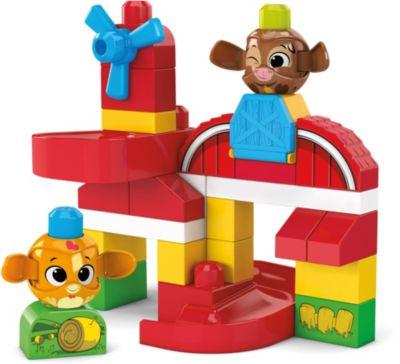 Mega Bloks Hündchen zum Hinterherziehen, Nachzieh Spielzeug mit Bausteinen, MEGA BLOKS