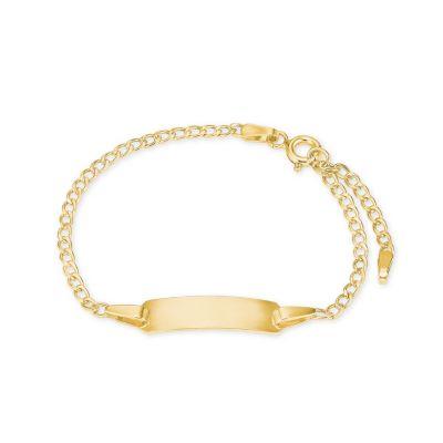 Armband Kinder Herz Geburt Taufe Namensband 375 Gelbgold Armbänder für Mädchen, Elli PREMIUM