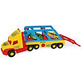 Игровой набор Wader Super Truck,  с авто-купе