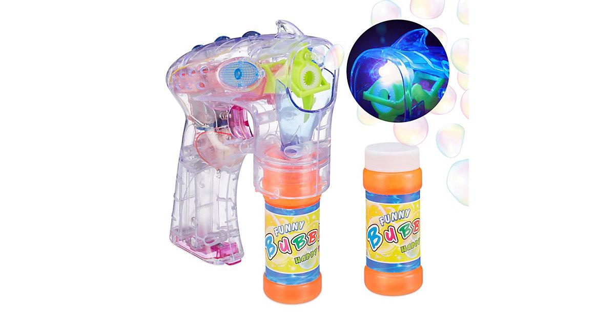 LED Seifenblasenpistole transparent