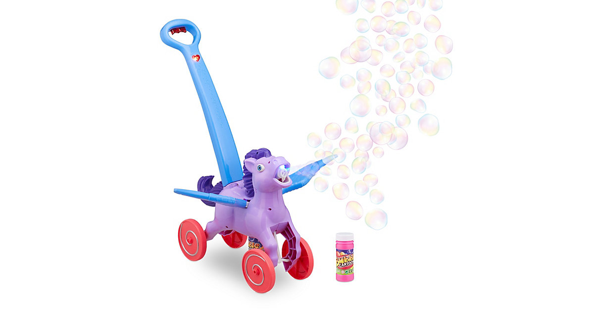 "LED Seifenblasenmaschine ""Pegasus"" lila"