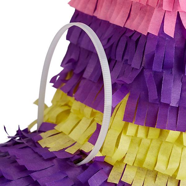 3x Pinata Esel, für Kinder, zum Befüllen, Geburtstag, Regenbogen, zum Aufhängen, relaxdays scEi7p