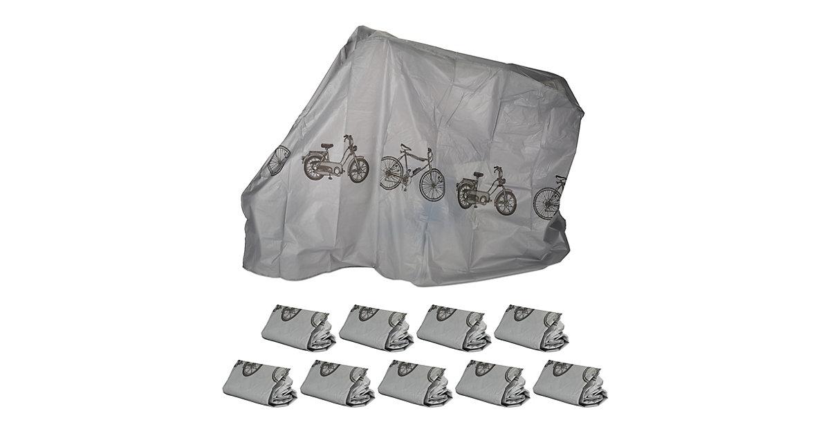 10 x Fahrradgarage grau, Schutzhülle, Abdeckung, Staubschutz, robust, wetterfest