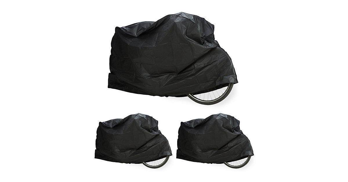 3 x Fahrradgarage schwarz, Schutzhülle, Abdeckung, robust wetterfest Staubschutz