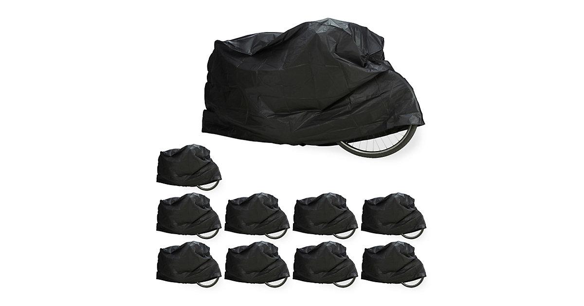10 x Fahrradgarage schwarz, Schutzhülle, Abdeckung Staubschutz robust wetterfest