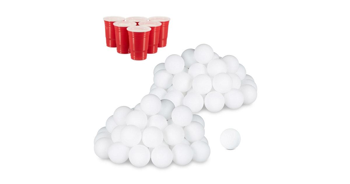 96x Beer Pong Bälle, Plastikbälle, Wurfbälle, Ping Pong Bälle, Tischtennisbälle weiß
