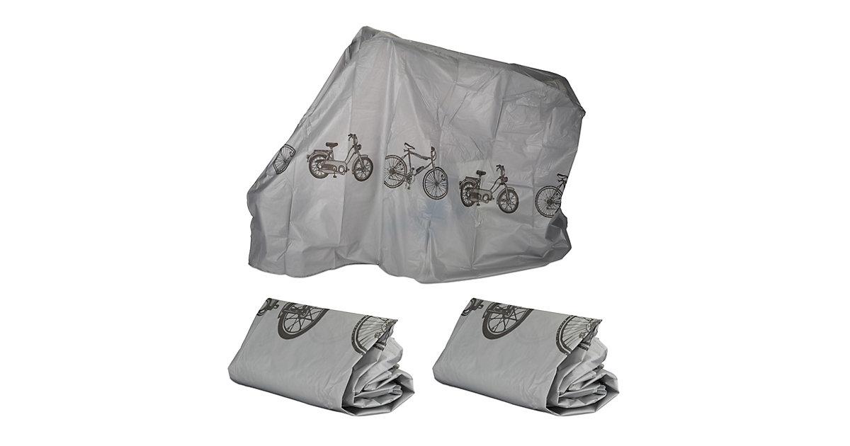 3 x Fahrradgarage grau, Schutzhülle, Abdeckung, robust, wetterfest, Staubschutz