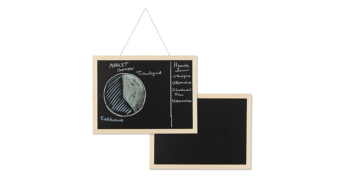 2 x Kreidetafel mit Holzrahmen Blackboard Office Büro Organizer Notiztafel Tafel schwarz