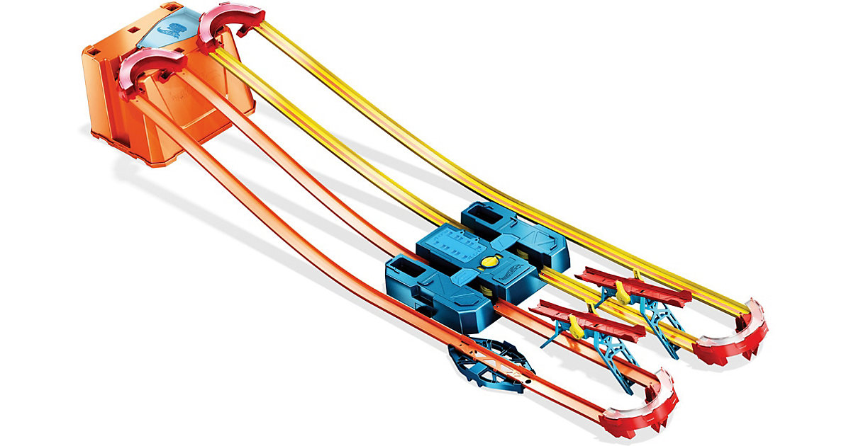 Hot Wheels Track Builder Unlimited Power Boost Box, motorisierte Autorennbahn