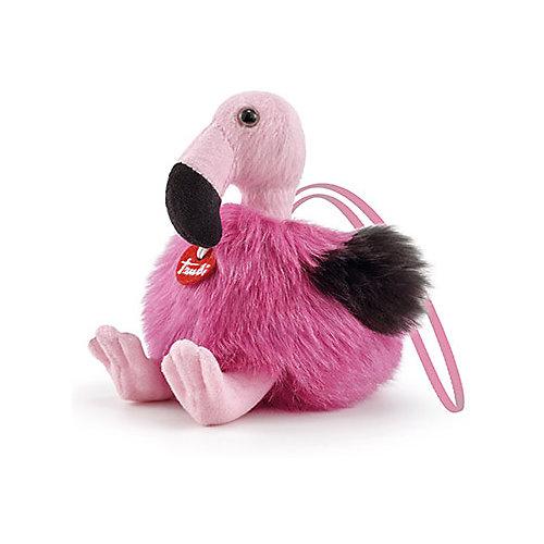 Мягкая игрушка Trudi Фламинго-пушистик на веревочке, 11x12x13 см от Trudi