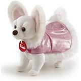 Мягкая игрушка Trudi Чихуахуа в розовом платье, 12x20x23 см