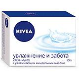 """Крем-мыло Nivea """"Увлажнение и забота"""" с миндальным маслом, 100 г"""