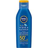 """Солнцезащитный лосьон Nivea Sun Kids """"Играй и купайся"""" SPF 50+, 200 мл"""