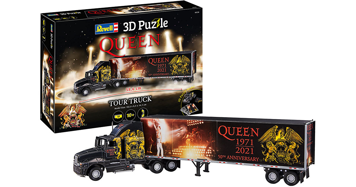 3D-Puzzle QUEEN Tour Truck - 50th Anniversary