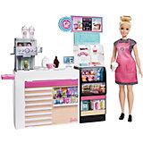 Набор игровой для кукол Barbie Кем Быть? Кофейня GMW03
