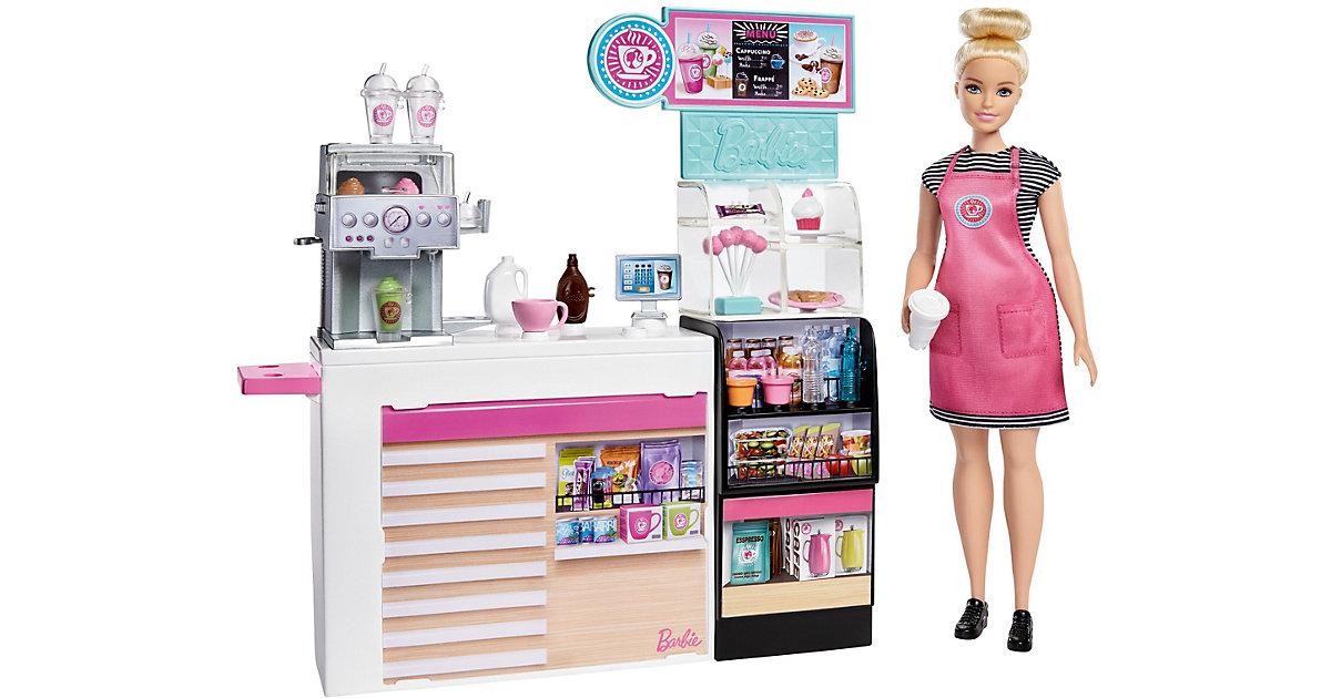 Barbie Nasch-Café Spielset mit Puppe (blond), über 20 Teile Puppen-Zubehör   Kinderzimmer > Spielzeuge > Puppen   Mattel