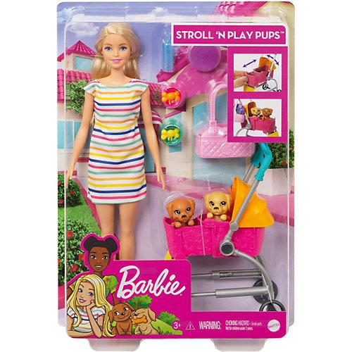 Игровой набор Barbie Кукла с щенками в коляске от Mattel