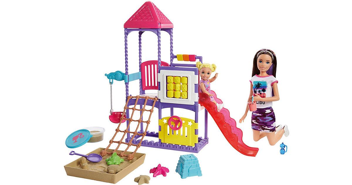 Barbie Skipper Babysitter, Spielplatz-Spielset mit Puppen und formbarem Sand
