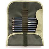 Набор чернографитных карандашей Малевичъ Graf'Art пенале-скрутке, 8 шт