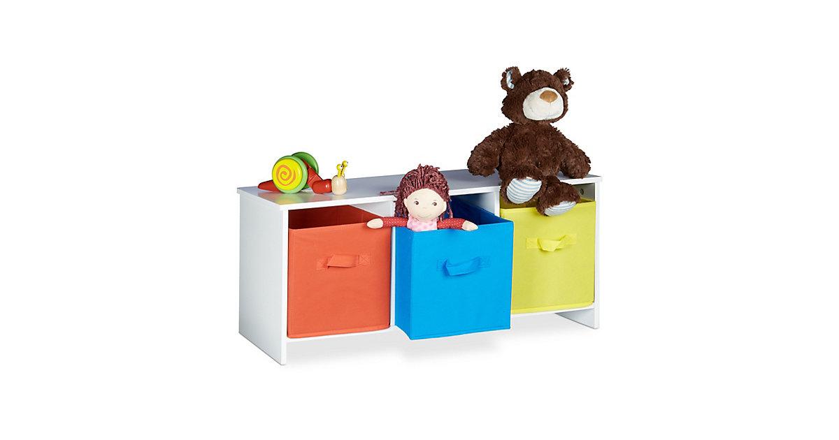 Image of Kindersitzbank mit Stauraum ALBUS weiß