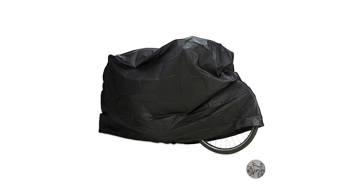 Fahrradgarage aus Kunststoff schwarz