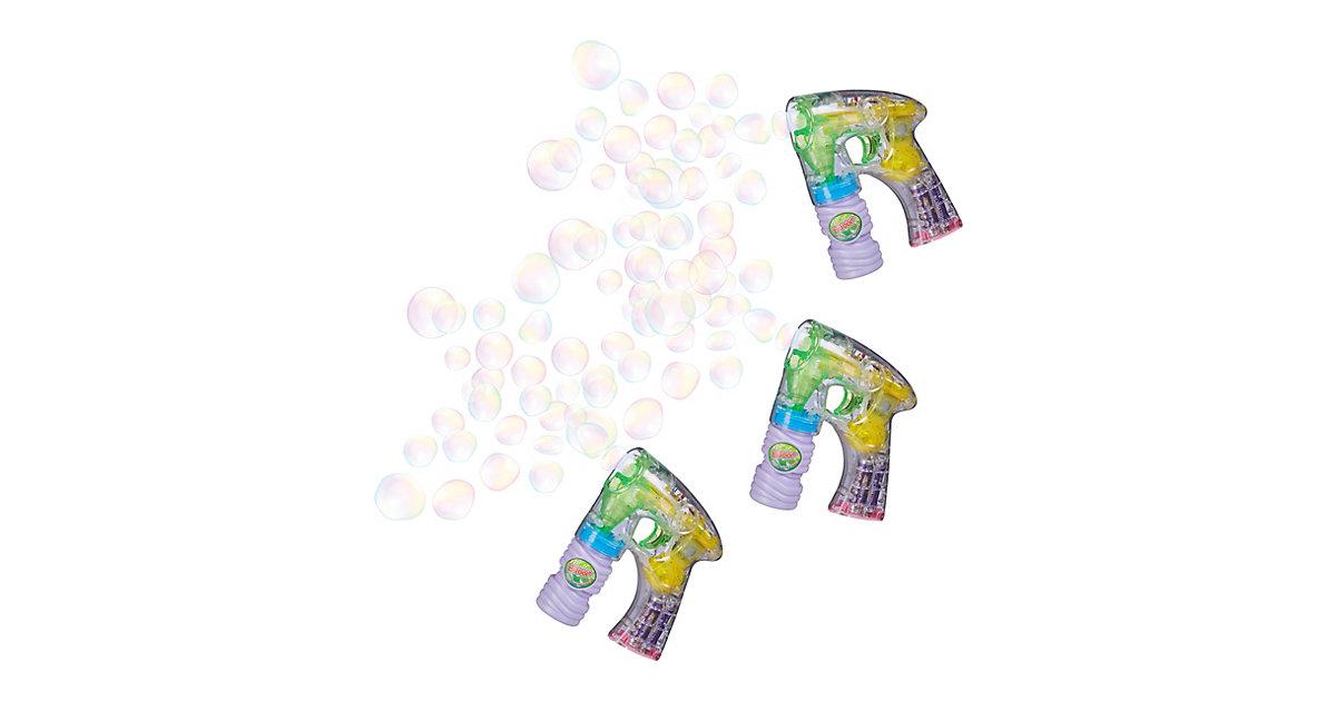 3er Set Seifenblasenpistolen Seifenblasenkanone Kinder Seifenblasenmaschine LED mehrfarbig