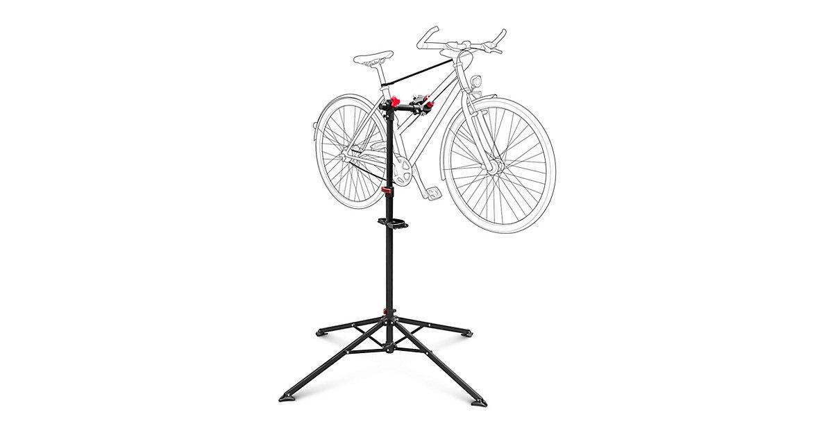 Fahrrad-Montageständer verstellbar schwarz