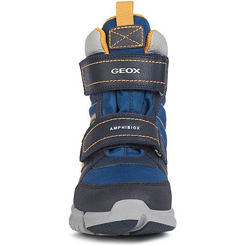 Утеплённые ботинки Geox - синий/оранжевый от GEOX