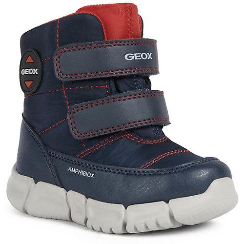 Утепленные сапоги Geox - синий/красный от GEOX