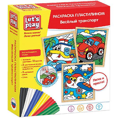 "Раскраска пластилином Let`s Play ""Веселый транспорт"" от Let`s Play"