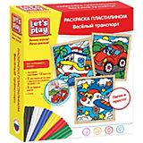 "Раскраска пластилином Let`s Play ""Веселый транспорт"""