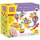 """Игровой набор Let's play """"Сладкое мороженое"""", с легким пластилином"""