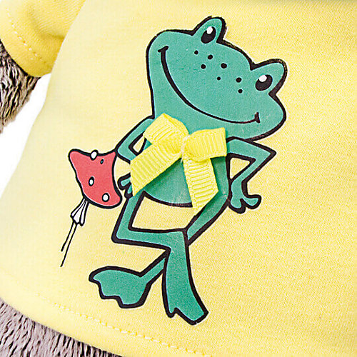 "Одежда для мягкой игрушки Budi Basa Футболка желтая с принтом ""Лягушонок"", 19 см от Budi Basa"