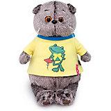 """Одежда для мягкой игрушки Budi Basa Футболка желтая с принтом """"Лягушонок"""", 22 см"""