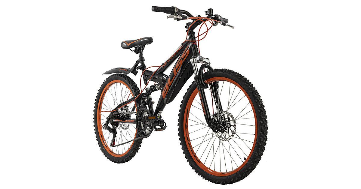 "Jugendfahrrad Mountainbike Fully 24"" Bliss Fahrräder, Rahmenhöhe: schwarz"