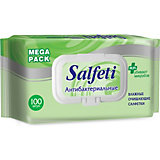 Влажные антибактериальные салфетки Salfeti №100, с клапаном