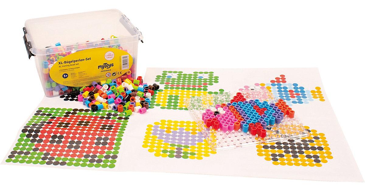 XL-Bügelperlen in Box, 1.200 Stück bunt