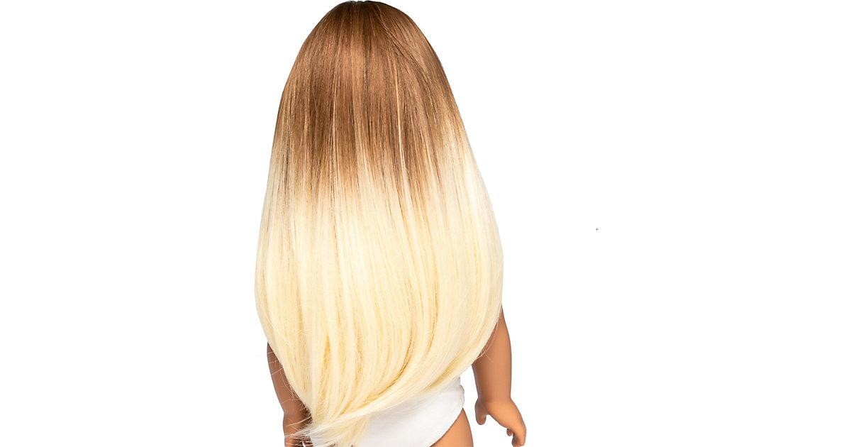 I'm a Girly - Perücke, braun/blond, 48 cm Fashion Doll  Kinder