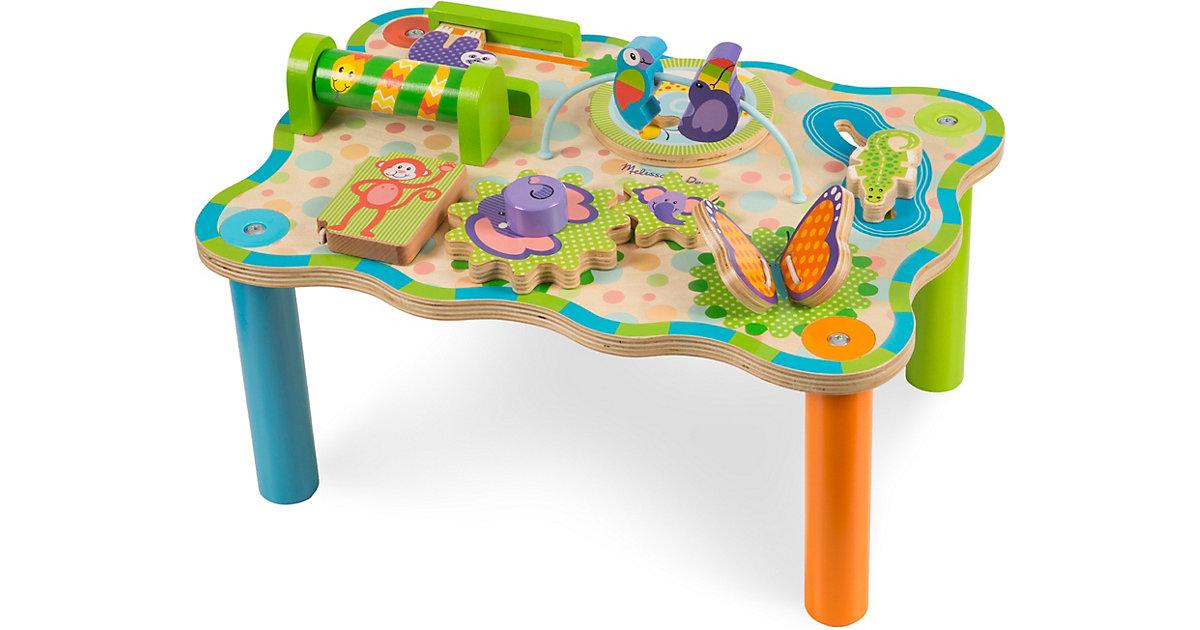 Spieltisch Dschungel aus Holz, 8 Aktivitäten mehrfarbig