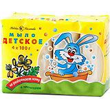 Туалетное мыло Невская косметика Детское с чистотелом, 4 шт по 100 г