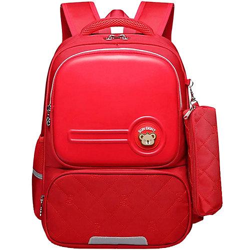 Рюкзак школьный Aliciia, с пеналом - красный от Aliciia