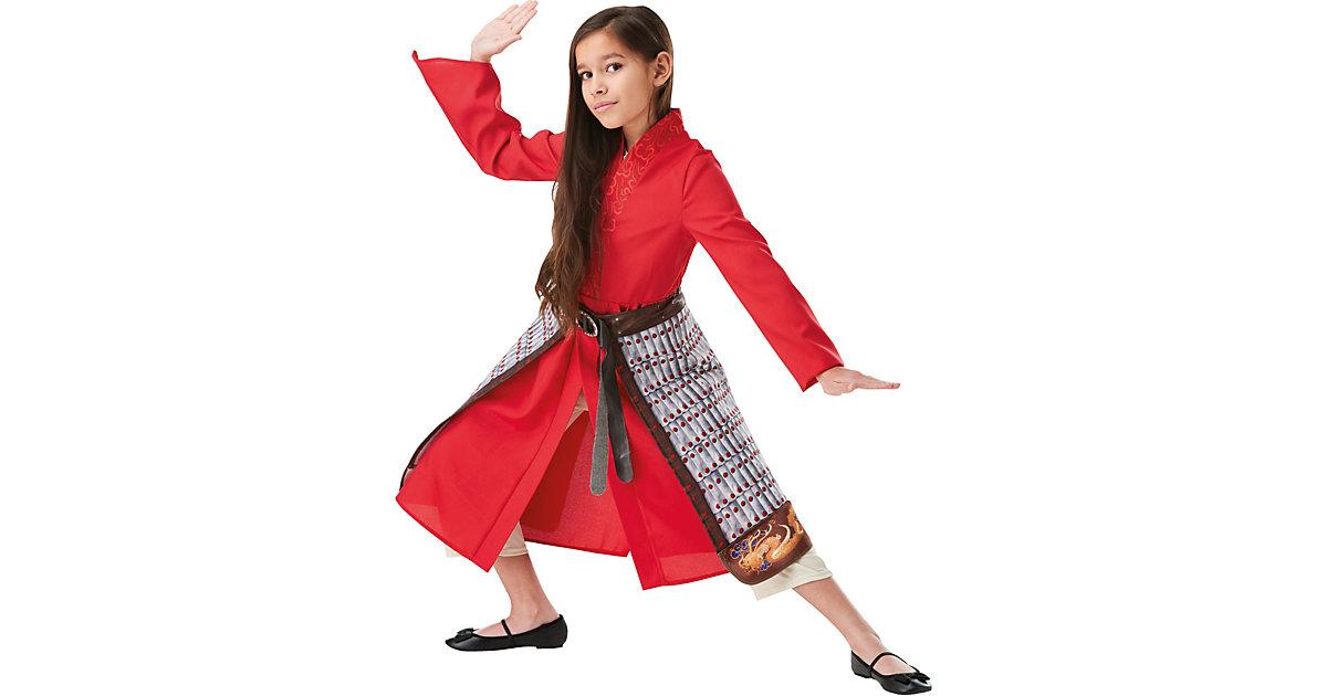Kostüm Mulan Deluxe LA Movie 134/140 rot Mädchen Kinder