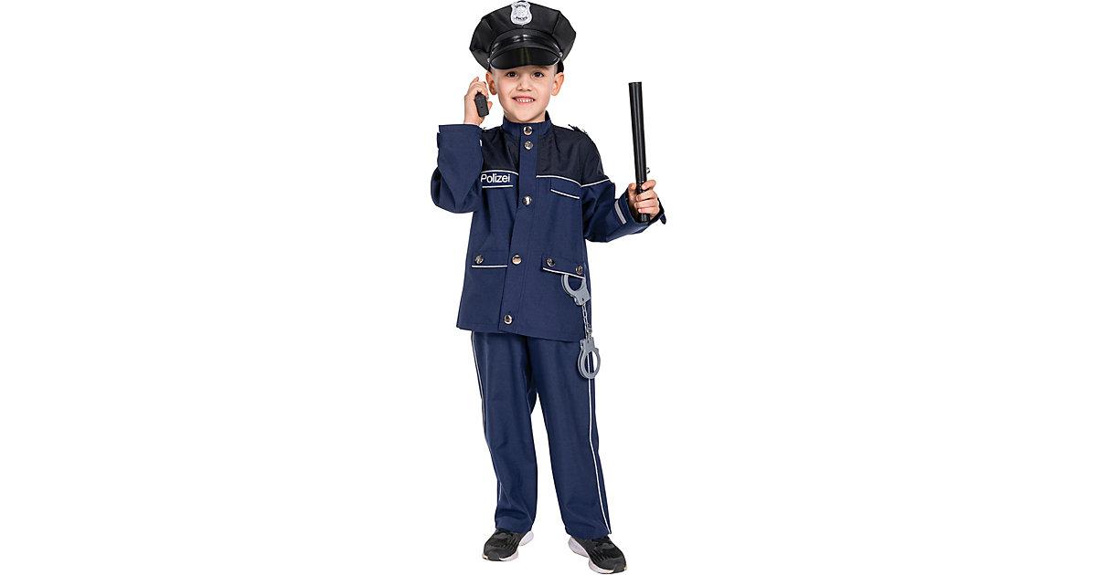 Kostüm Polizist Gr. 116 blau Jungen Kleinkinder